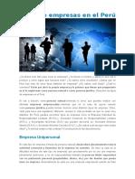 Tipos de Empresas en El Perú