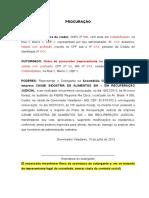 Procuracao Assembleia Geral de Credores Julho 2013