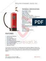 Features of Ceasefire Metal Fire Fighter SPM-TEC - 6 KG