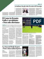 La Provincia Di Como 15-11-2016 - Calcio Lega Pro