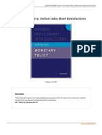 9780198075417 Monetary Policy Oxford India Short Introductions