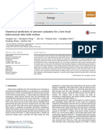 Numerical Prediction of Pressure Pulsation for a Low Head Bidirectional Tidal Bulb Turbine