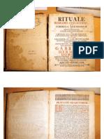 Rituale Romano-Colocense, 1738.