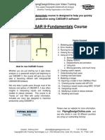 CAESAR II Fundamentals Info Sheet