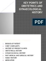 Key Points of Obstetrics and Gynaecological History
