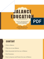 balance education - schlegel villages  pdf