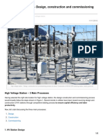 High Voltage Station Design Construction and Commissioning Process