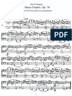 Publicdom-Popper-15 Cello Etudes for the 1st Position Op. 76A-With 2nd Cello