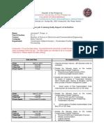ECE 4-2 Daily Report of Activities 2