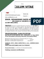 Curriculum Vitae 2016 of Md Sazid Alam PDF Updated