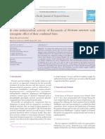 In Vitro Antimicrobial Activity of Flavanoids of Ocimum Sanctum