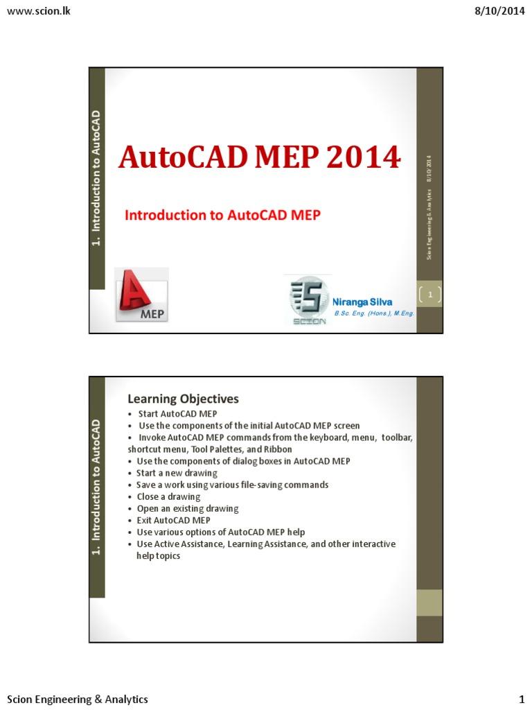 Introduction To Autocad Mep Auto Cad Autodesk