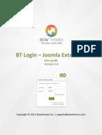 BT Login User Manual v2.0