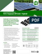 Brosur 2016 Solusi PLTS Terpusat Off Grid - Rev.1