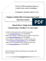 Employee Attrition Risk Assessment Using Logistic Regression Analysis