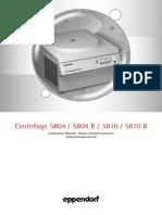 Eppendorf 5804R Centrifuge Manual