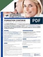 DU Communication Des Entreprises Et Des Collectivites