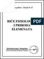 T-27-B Bice Fiziologije i Priroda Elemenata
