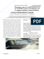 Optimization of Drilling Process Parameters on Die Steel (H13) Using