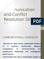 5.1 Communication and Conflict Resolution Skills