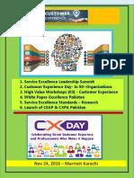 Thought Paper -Customer Experince Management Summit ( Nov 24, 2016 Marriott Karachi)