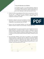 2ª Lista de Mecanica Dos Fluidos_2016_Pitagoras