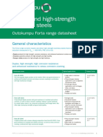 Outokumpu Forta Range Stainless Steel Datasheet