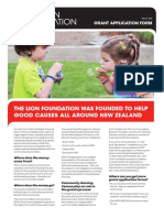 Lion Foundation Grant Application Form
