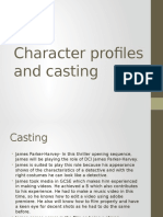 Character Profiles and Casting