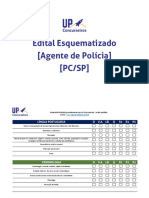 Edital Esquematizado UP Agente Policia Civil