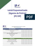 Edital Esquematizado UP Agente Policia Civil