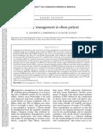 Airway Management in Obese Patient - Minerva 2014