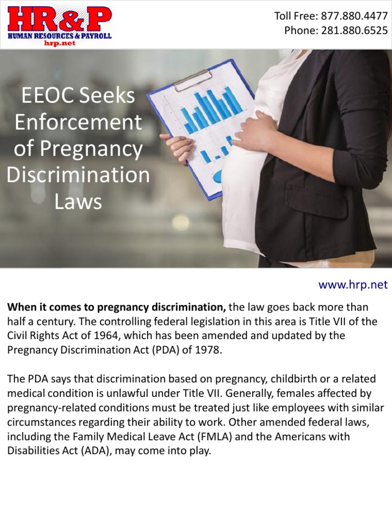 Pregnancy Discriminat Eeoc Seeks Enforcement — Totoku