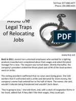 Avoid the Legal Traps of Relocating Jobs