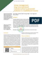 Airway Management Using Transmylohyoid Oroendotracheal (Submental) Intubation in Maxillofacial Trauma - NatlJMaxillofacSurg52138-2466486_065104