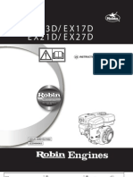 robin ex13 owner's manual