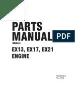 robin ex13 parts manual