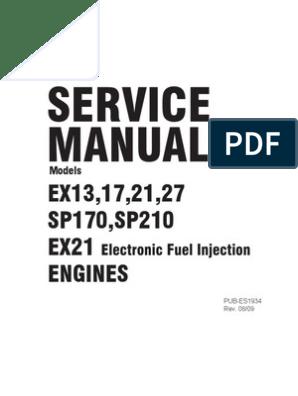 Robin EX 13 Service Manual 4 5 4 3 HP Engine   Internal