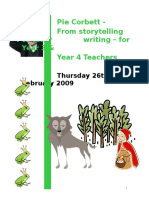 Pie Corbett - Teaching Writing in Y 3