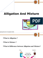 Lecture PPT of Alligation and Mixture