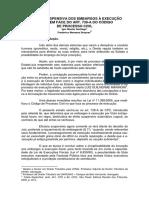 Artigo - 739-A CPC e Execução Fiscal - Frederico Breyner
