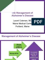 Management of Alzheimer Disease