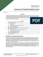 Automotive Line Transient Protection Circuit