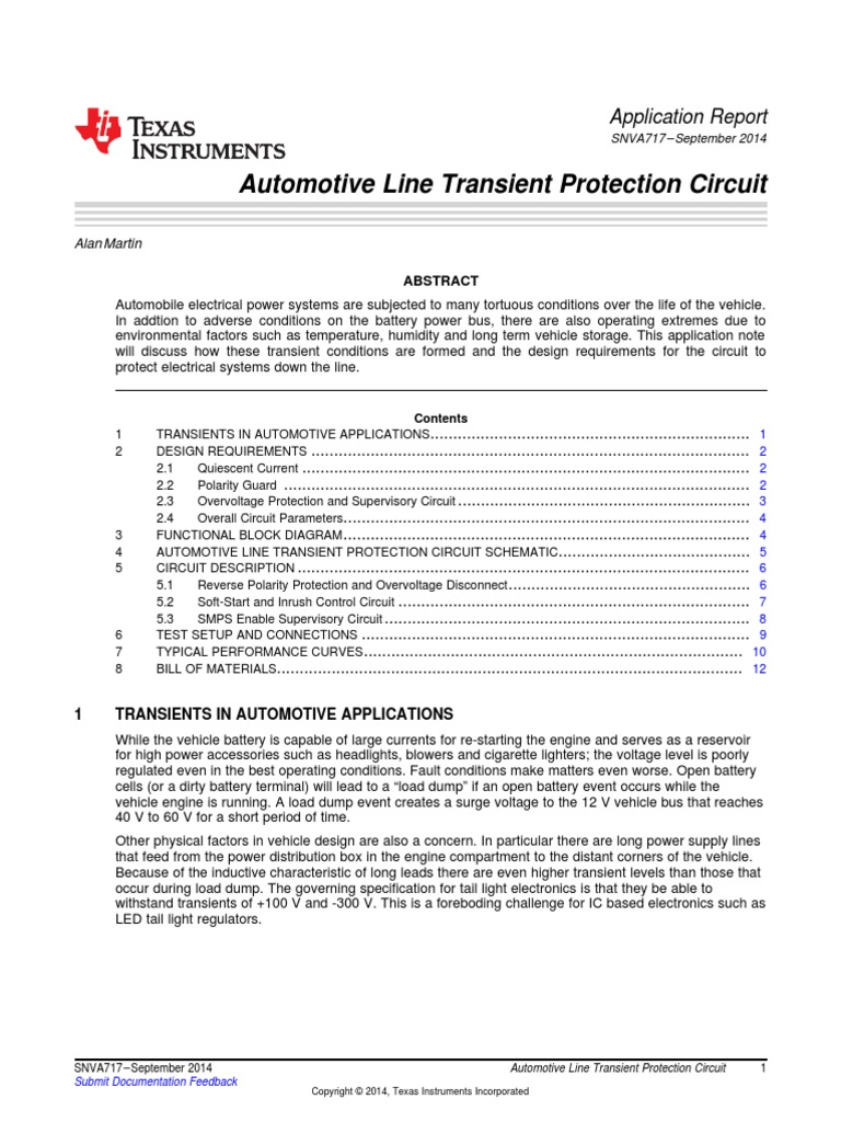 Automotive Line Transient Protection Circuit Mosfet Diode Soft Start On Capacitor Charging Discharging Diagram