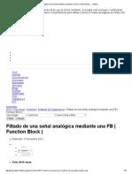 Filtado de Una Señal Analógica Mediante Una FB ( Function Block ) - InfoPLC