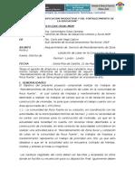 INFORME 009 Requerimiento Servicio de Mant Limpieza Roca Fuerte 21 05 2015