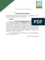 Certificado de Trabajo de Alfredo Dominguez Presentacion