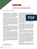 Nuevos Ingredientes Activos de Uso en Dermatología Estética