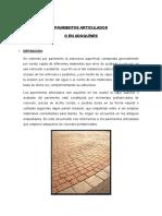 PAVIMENTOS ARTICULADOSss