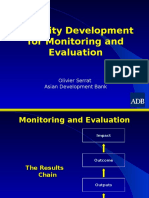 capacity development for monitoring and evaluation